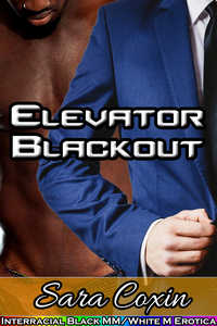 cover design for the book entitled Elevator Blackout (Interracial Black MM/White M Gay Erotica)