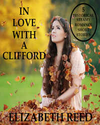 cover design for the book entitled In Love With A Clifford: 5 Historical Steamy Romance Short Stories