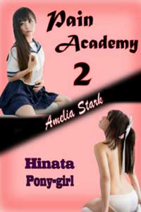 cover design for the book entitled Pain Academy 2 (Hinata: Pony-girl)