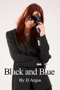 cover design for the book entitled Black And Blue