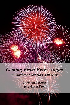 cover design for the book entitled Coming From Every Angle: A Gangbang Short Story Anthology
