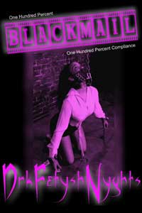 cover design for the book entitled BLACKMAIL