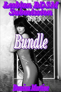 cover design for the book entitled Lesbian BDSM Submission Bundle