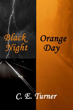 cover design for the book entitled Black Night Orange Day