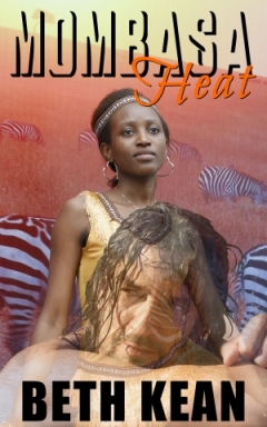 cover design for the book entitled Mombasa Heat