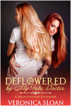 cover design for the book entitled Deflowered By My Futa Doctor