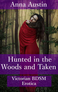 cover design for the book entitled Hunted in the Woods and Taken