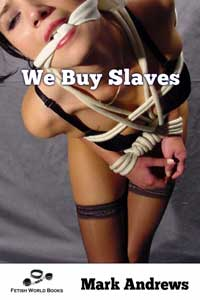 cover design for the book entitled We Buy Slaves