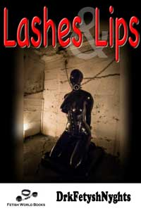 cover design for the book entitled LASHES & LIPS