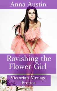 cover design for the book entitled Ravishing The Flower Girl