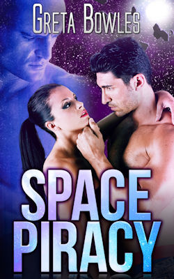 cover design for the book entitled Space Piracy