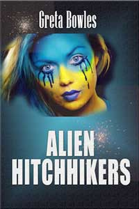 cover design for the book entitled Alien Hitchhikers