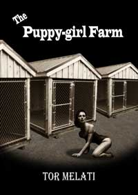 cover design for the book entitled The Puppy-girl Farm