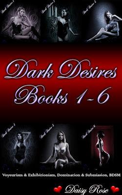 cover design for the book entitled Dark Desires 1 - 6