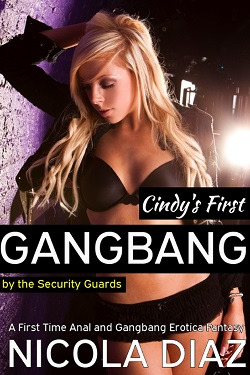 Cindy's First Gangbang by the Security Guards