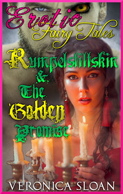 cover design for the book entitled Rumpelstiltskin & The Golden Promise