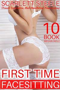 cover design for the book entitled First Time Facesitting - 10 Book MegaBundle