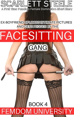 cover design for the book entitled Ex-Boyfriend uploads Intimate Pictures and gets Pegged by the Facesitting Gang