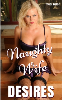 cover design for the book entitled Naughty Wife Desires: Taken by the Young Stranger