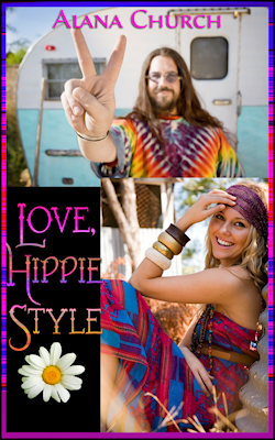 cover design for the book entitled Love, Hippie Style