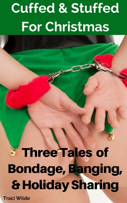 cover design for the book entitled Cuffed and Stuffed For Christmas