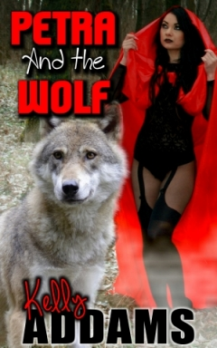 cover design for the book entitled Petra And The Wolf