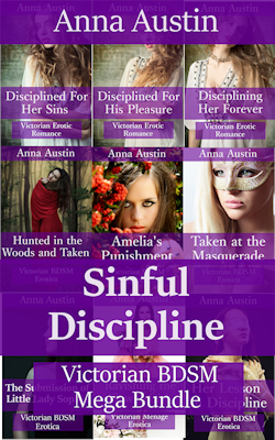 cover design for the book entitled Sinful Discipline: Victorian BDSM Mega-Bundle