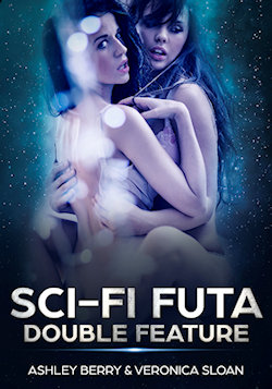 cover design for the book entitled Sci-Fi Futa Double Feature