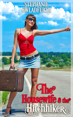 cover design for the book entitled The Housewife And The Hitchhiker