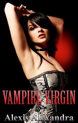 cover design for the book entitled Vampire Virgin