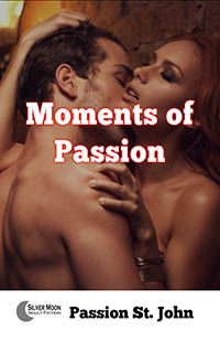 cover design for the book entitled Moments Of Passion