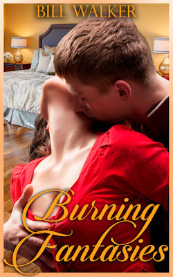 cover design for the book entitled Burning Fantasies