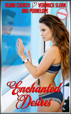 cover design for the book entitled Enchanted Desires