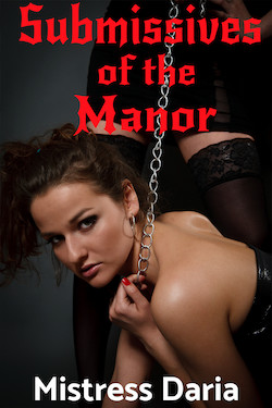 cover design for the book entitled Submissives of The Manor