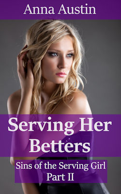 cover design for the book entitled Serving Her Betters: Victorian BDSM Erotica