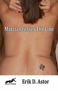 cover design for the book entitled Marcia Crosses The Line