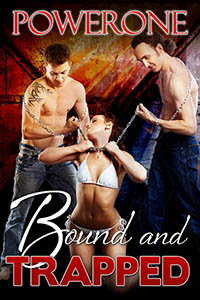 cover design for the book entitled BOUND AND TRAPPED
