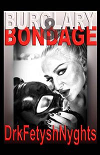 cover design for the book entitled BURGLARY & BONDAGE