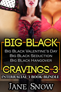 cover design for the book entitled Big Black Cravings 3 (Interracial Erotica Bundle)