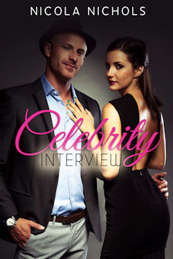 cover design for the book entitled Celebrity Interview