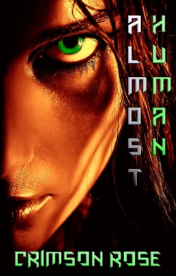 cover design for the book entitled Almost Human