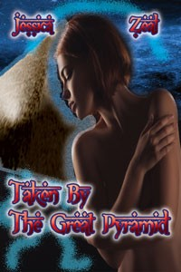 cover design for the book entitled Taken By The Great Pyramid