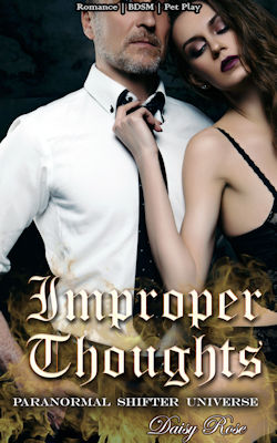 cover design for the book entitled Improper Thoughts: Romance | BDSM | Pet Play