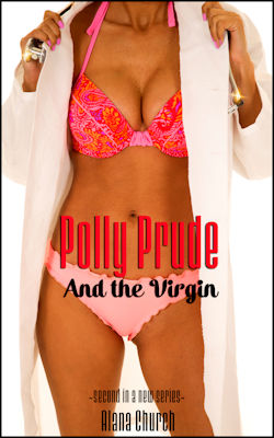 cover design for the book entitled Polly Prude And The Virgin