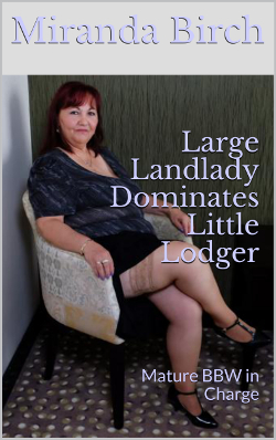 cover design for the book entitled Large Landlady Dominates Little Lodger