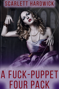 cover design for the book entitled A Fuck Puppet Four Pack