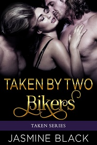 cover design for the book entitled Taken by Two Bikers