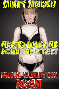 cover design for the book entitled Master walks me down the street