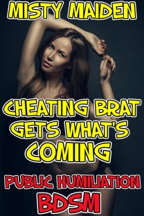 cover design for the book entitled Cheating brat gets what