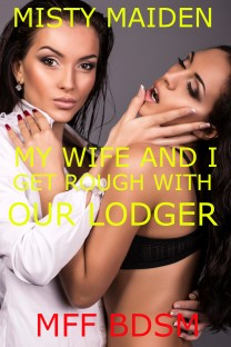 cover design for the book entitled My wife and I get rough with our lodger